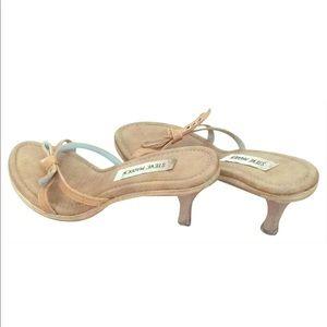 Steve Madden bow tie short heels